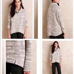 Anthropologie Saturday Sunday Cowl Neck Hi Low Top